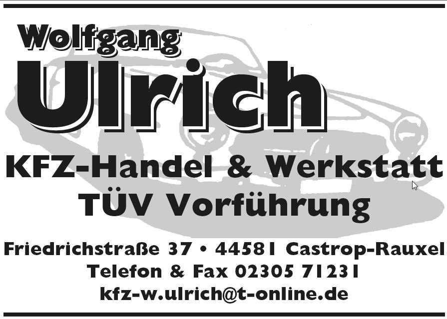 Wolfgang Ulrich
