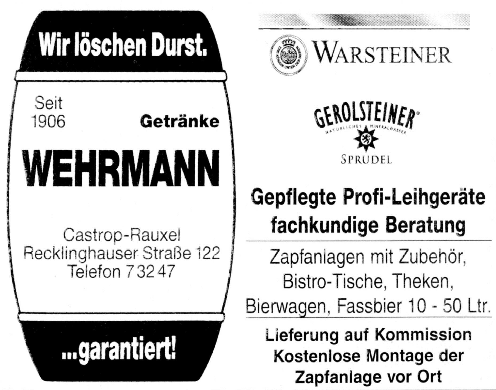 Wehrmann - Getränkehandel